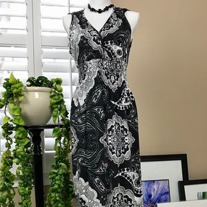 Dresses & Skirts - 👗Raya Sun Maxi Dress, Black, White & Gray, Size S